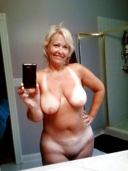 Funny mature ladies take nude selfshot..