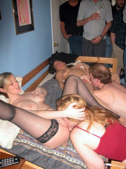 Swingers swap wives, amateur group..