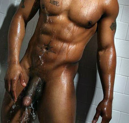 Huge black dick in the bathroom, naked..