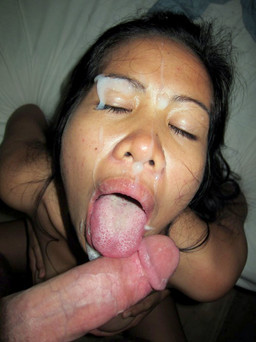Nasty asian freak girl takes long fat..