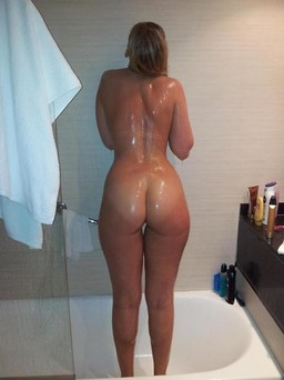 My sexy wife in the shower, homemade..