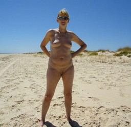 Naked oldies on the Beach