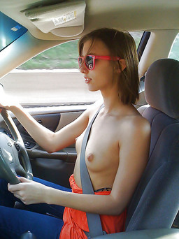 Hot pictures of car sex and topless..