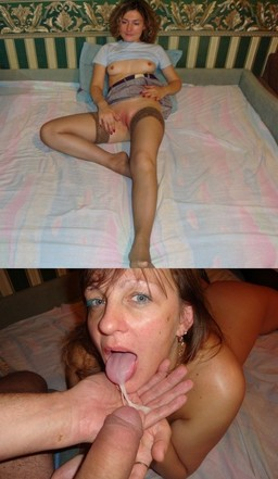 Exhibitionist MILF in hold ups and..