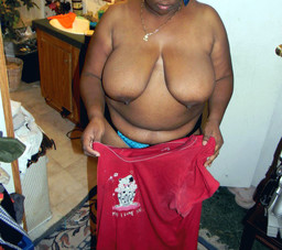 Sex-starved black housewife undressing..