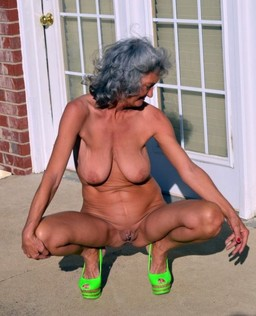 Naked mature housewives outdoor and at..