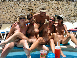 Nude mature women and mens at the resort