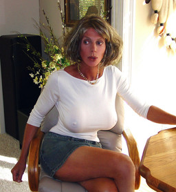 Big tits mature women in transparent..