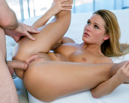 Beautiful hottie Abby Cross gets ass..