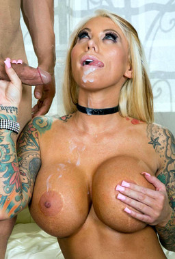 Tattooed pornstar Lolly Ink with giant..