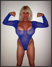 Mature huge fake tits